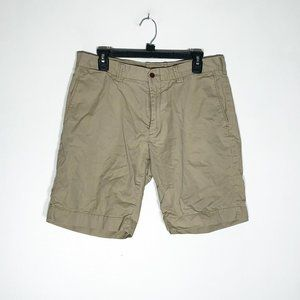 Polo By Ralph Lauren Shorts Mens 34 Tan Flat Front